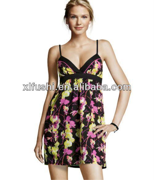 los recién llegados de flores correa de las señoras sexy vestido de playa-Traje de baño  ropa de playa-Identificación del producto:756904055-spanish.alibaba.com