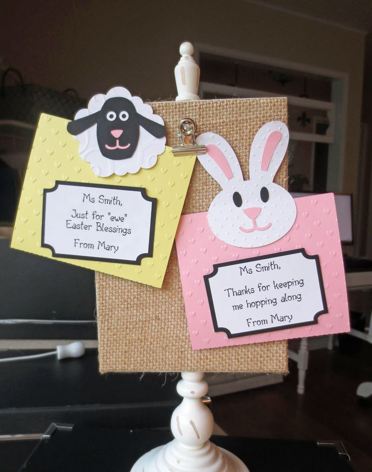 A personal favorite from my Etsy shop https://www.etsy.com/listing/505706100/easter-personalized-gift-card-holder-for
