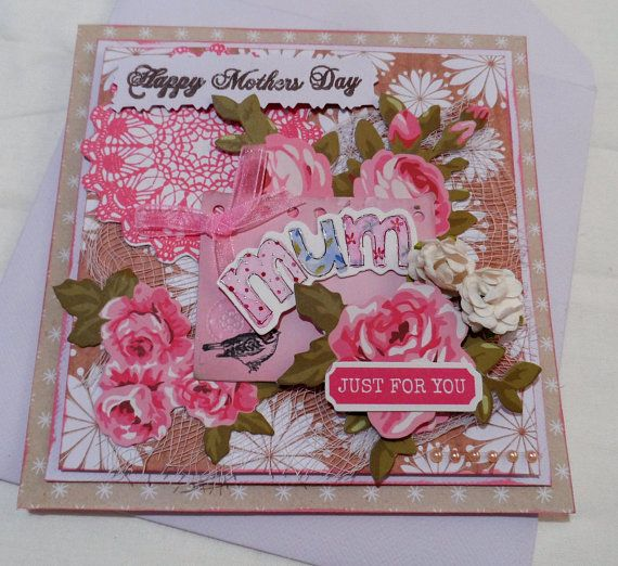 Cards 3 dimensional  Mothers day Card  Mixed Media Cards
