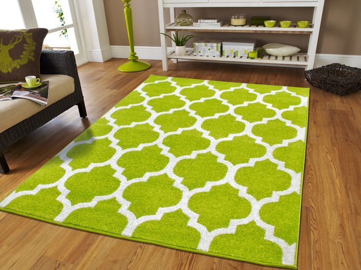 New Fashion Luxury Morrocan Trellis Rugs Green and White Rugs with Lines  Rugs For Dining Room Soft Rugs For Bedrooms Large Rugs For Living Room Cheap,  ...