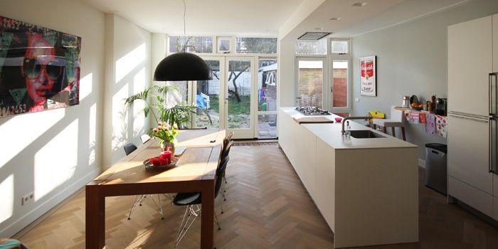 Interieur met open keuken home ramen achterbouw for Interieur keuken ideeen