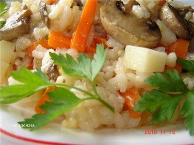 Кулинарные рецепты от Лики: Ризотто грибное с пармезаном