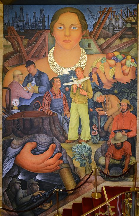 17 best images about murals and mosaics on pinterest for Diego rivera mural san francisco art institute