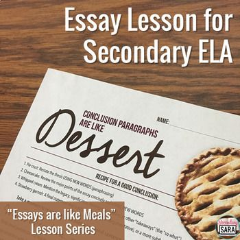 Teaching essay conclusions