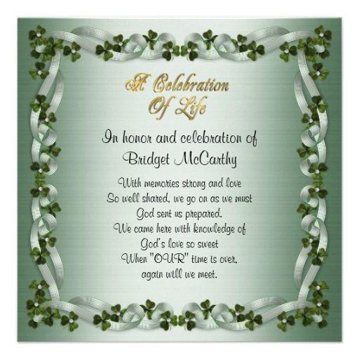 17 best celebration of life invites images on Pinterest Thoughts - celebration of life templates