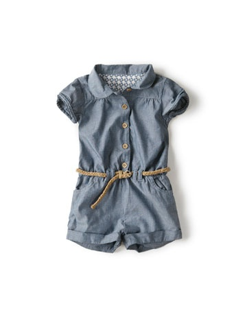 chambray jump-suit with plaited belt (12-18,24-36)