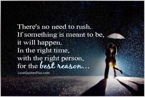 If something is meant to be