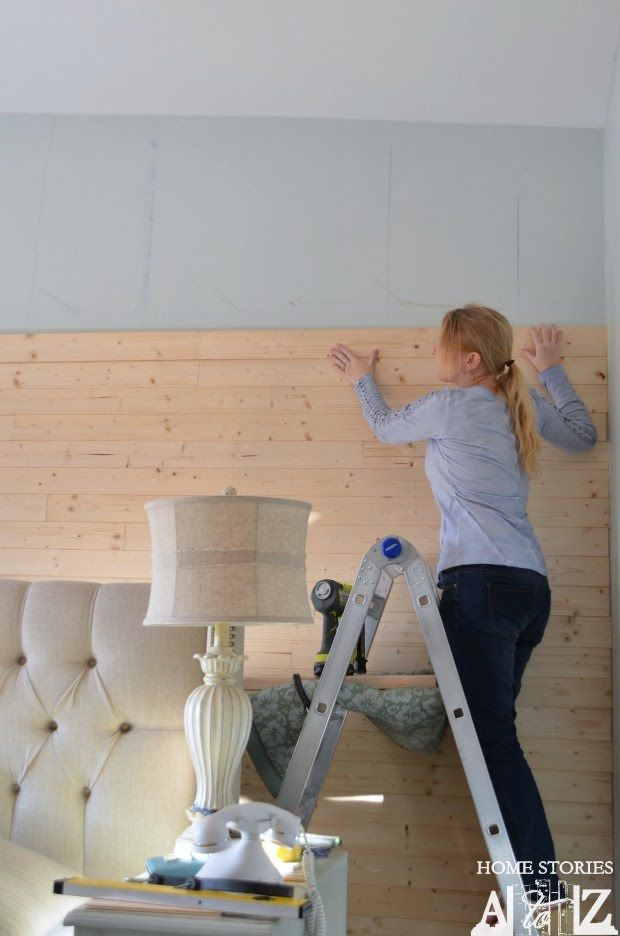 DIY Plank Wall Tongue and Groove Tutorial - Home Stories A to Z