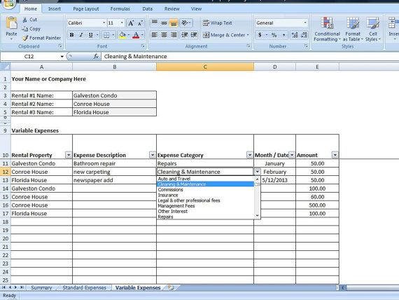 12 best Rental Property Management Templates images on Pinterest - amortization schedule in excel