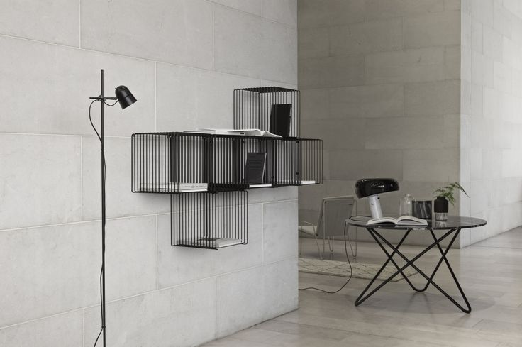 Panton Wire – wire cube shelving system.
