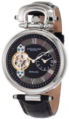 Relógio Stuhrling Original Men's 127.33151 Special Reserve Emperor Automatic Skeleton Dual Time Zone Watch #Relogios #StuhrlingOriginal