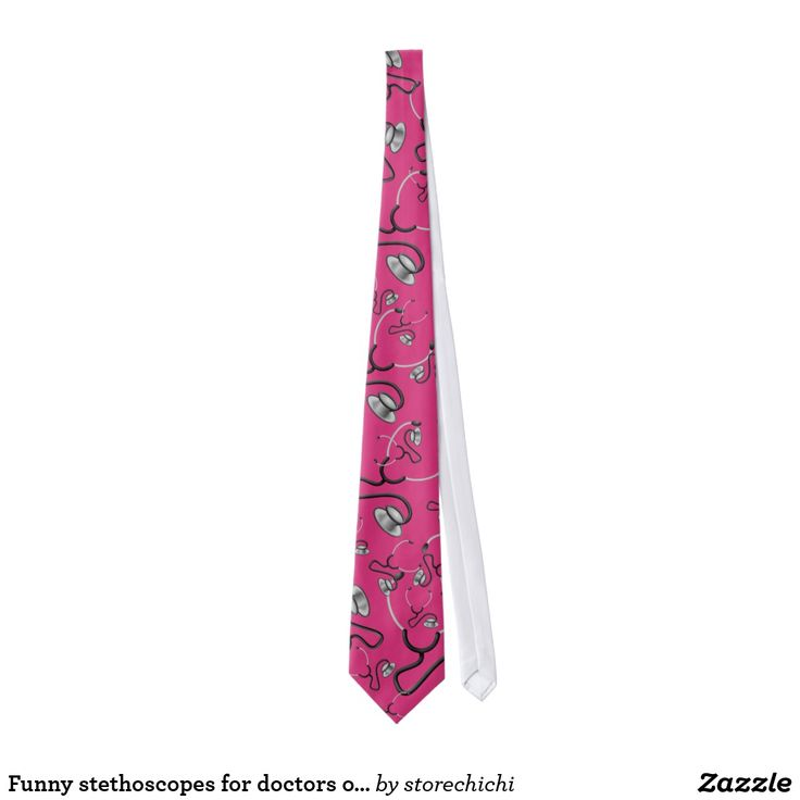 Funny stethoscopes for doctors on deep pink
