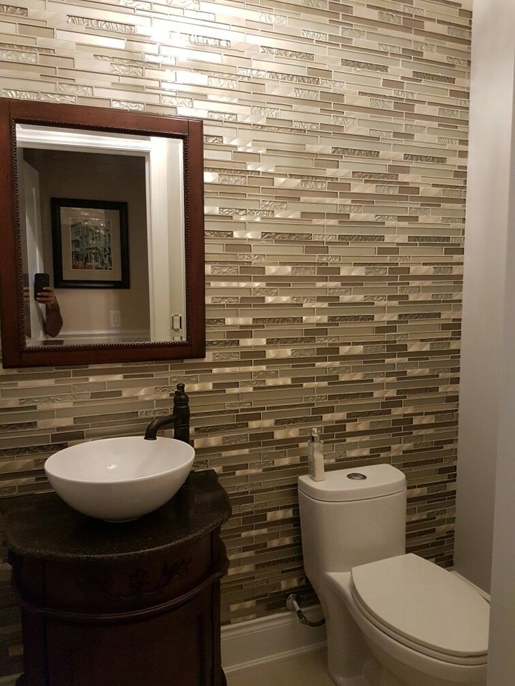 Finished the powder room