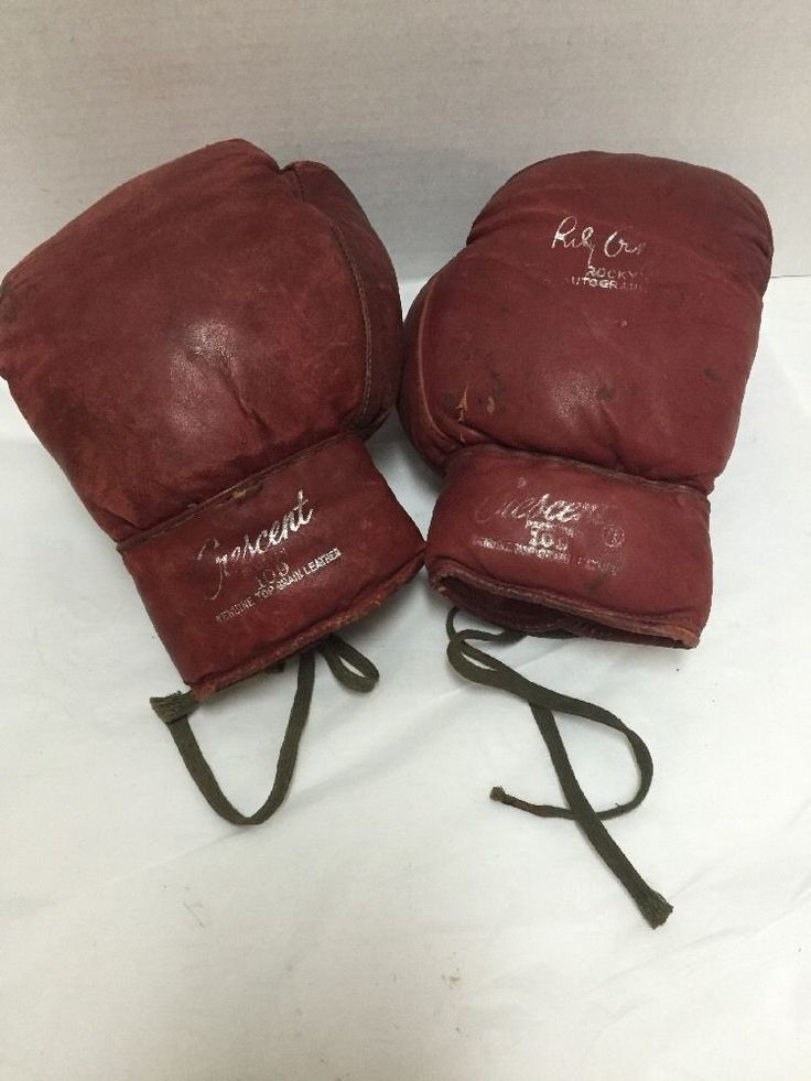 Vintage Rocky Graziano Autograph Model Crescent 109 Boxing Gloves #Crescent