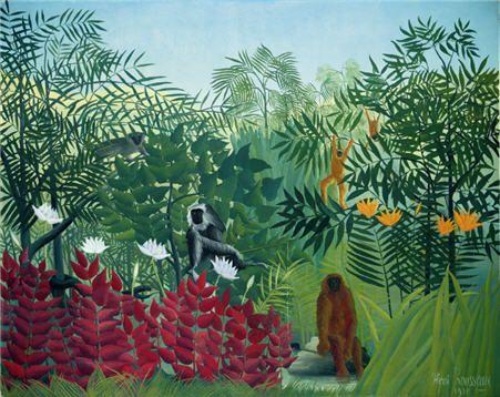 Forêt tropicale avec singes, Le Douanier Rousseau : le Douanier Rousseau, Jungles à paris