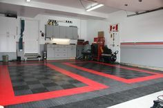 Coin flex rubber garage floor tiles