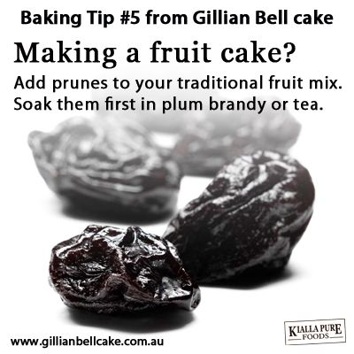 Add prunes to your fruit cake!