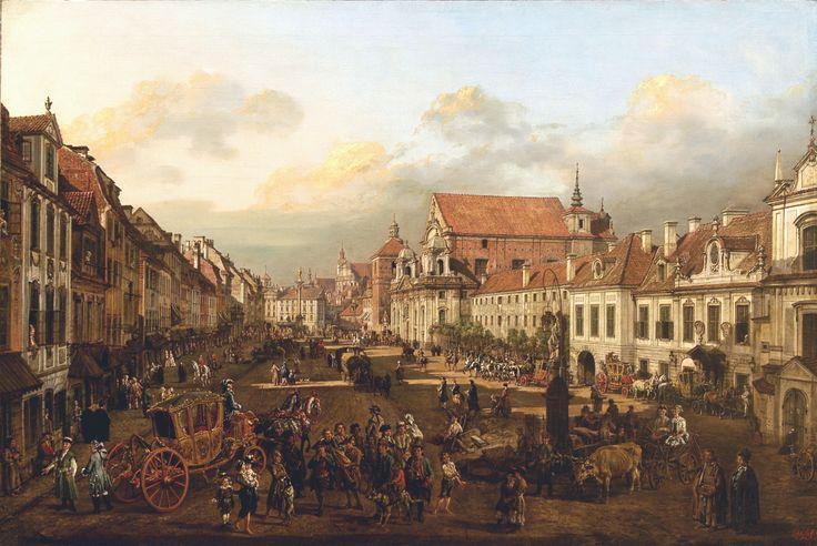 Bernardo Bellotto Vista di via Krakowskie Przedmiescie dalla colonna di Sigismondo III 1774 . libreriamo.it