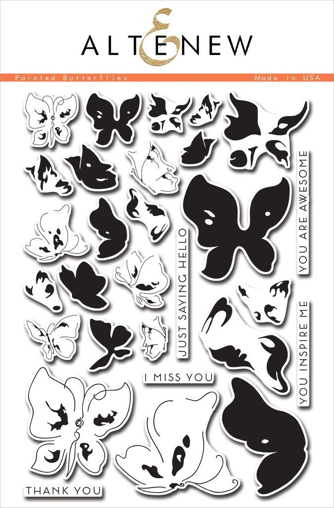 Painted Butterflies Stamp Set