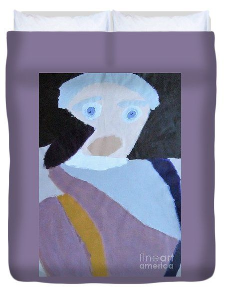 Patrick Francis Duvet Cover featuring the painting Portrait Of A Lady 2014 by Patrick Francis