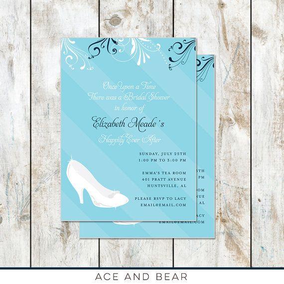 Glass Slipper Cinderella Bridal Shower Invitation  by rocketliv