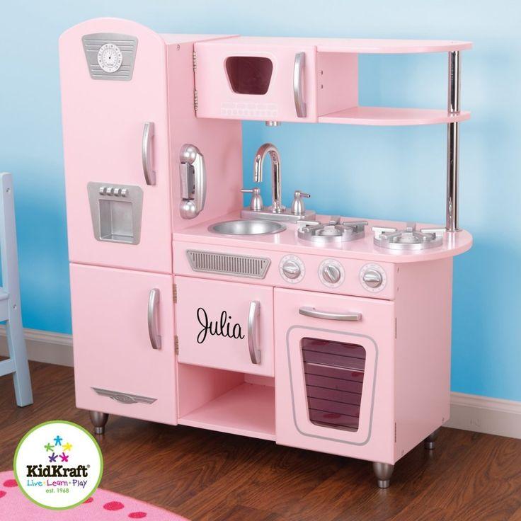 Pink Wooden Kitchen Playset