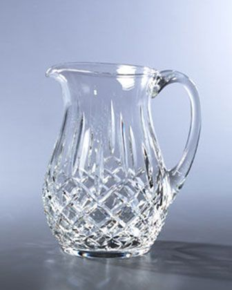 """Lismore"" Crystal Pitcher by Waterford Crystal at Horchow."