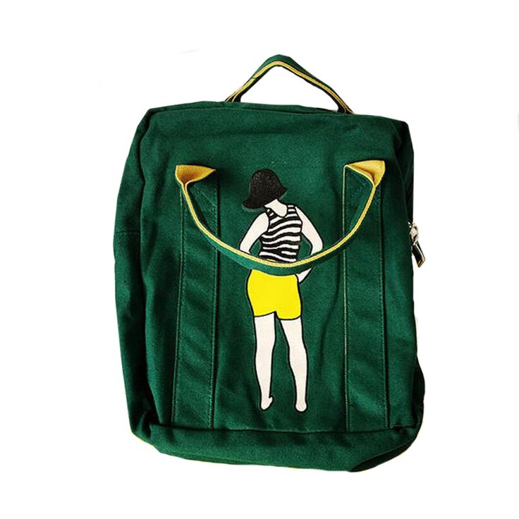 Printed Girl Canvas Backpacks   Best Price and Free Shipping Worldwide    #youngcitystore #pretty #young #fashion