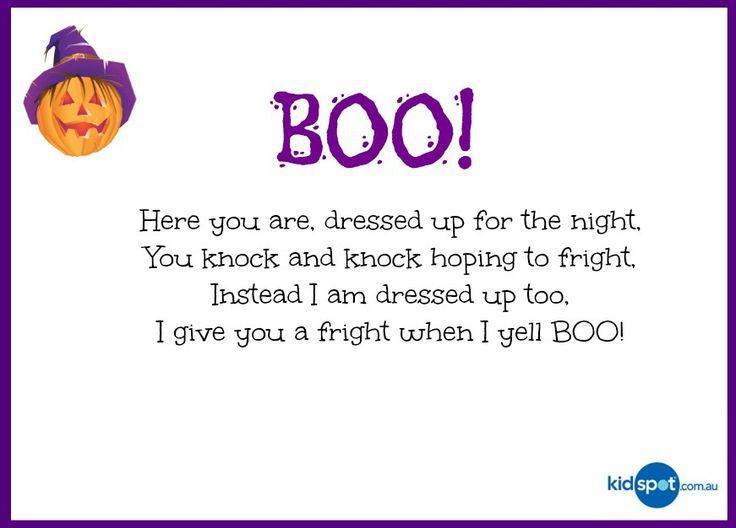 printable activities poems for kids halloween - Funny Halloween Poems For Kids