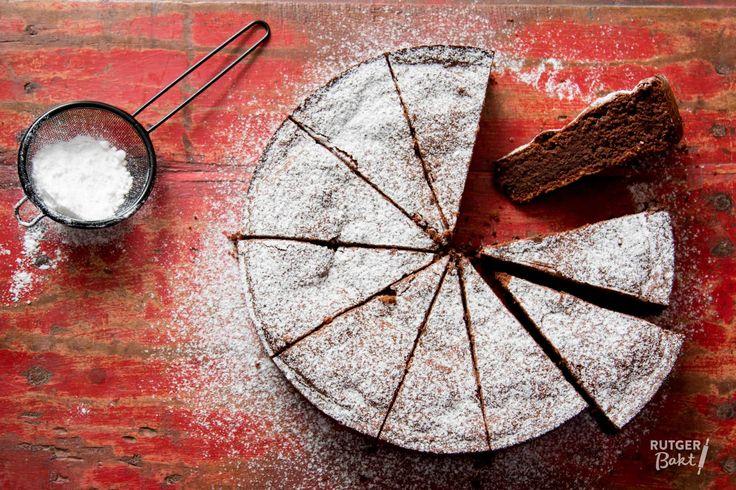 Notentaart met chocolade uit Capri – recept