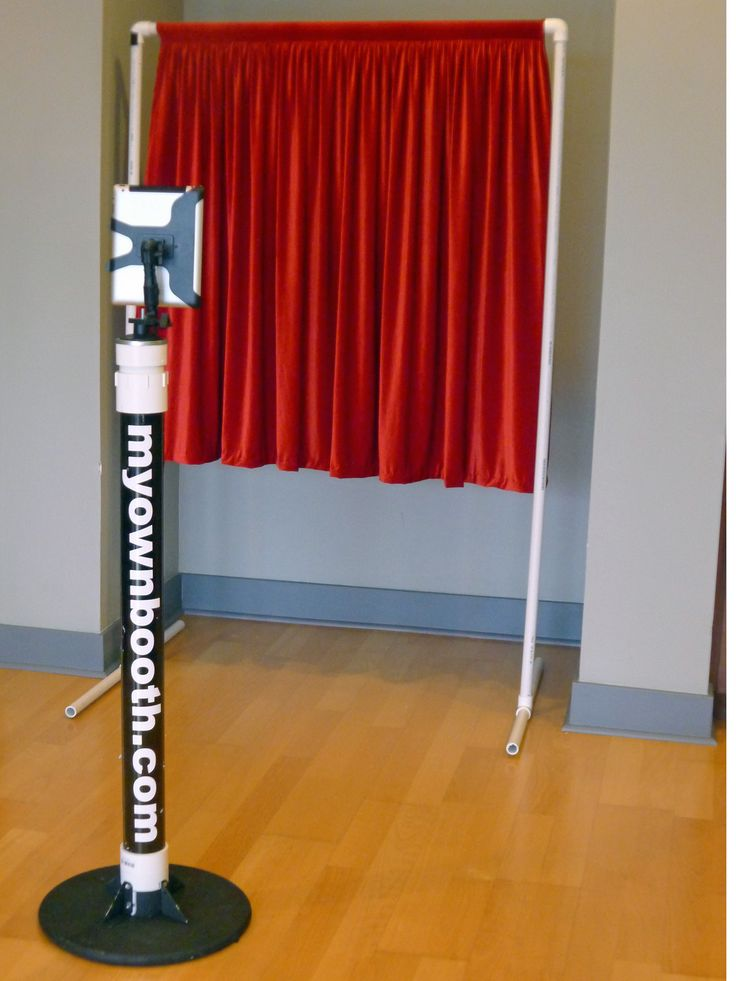 Diy ipad photo booth poemsrom myownbooth app mounted on a pvc stand with red curtain background 7 best do it yourself photobooth solutioingenieria Image collections