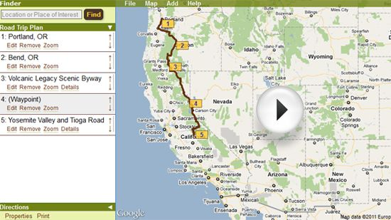 The myscenicdrives.com Road Trip Planner allows you to plan your entire road trip quickly and easily.