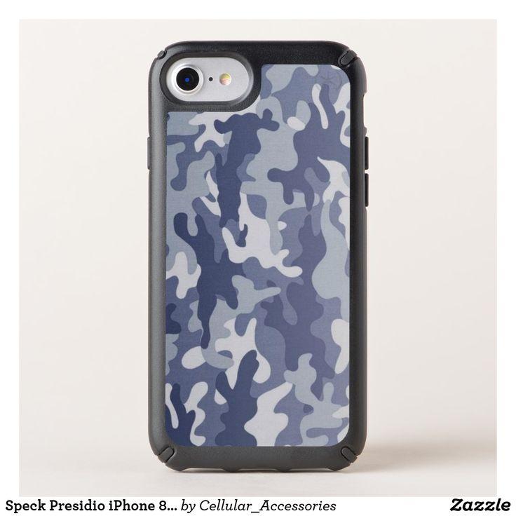 Speck Presidio iPhone 8/7/6s/6 Blue Camo Case.