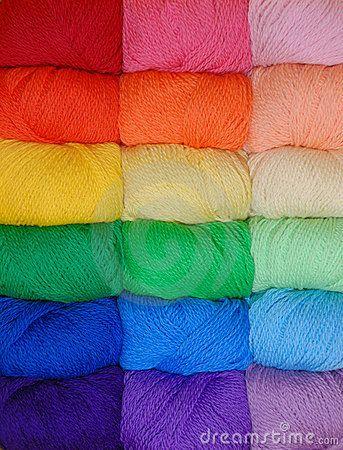 Rainbow of yarn by Jim Hughes, via Dreamstime