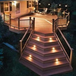 angled deck stairs