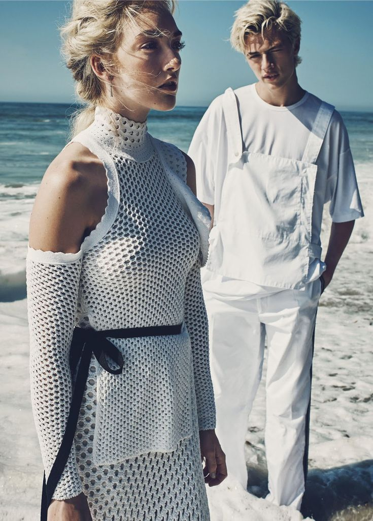 blue crush: lucky blue, pyper america, daisy clementine and starlie cheyenne smith by beau grealy for us marie claire january 2016 | visual optimism; fashion editorials, shows, campaigns & more!