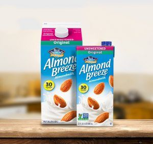 Whole30 Approved Almond Milk Brands | Almond Breeze Unsweetened Almond Milk
