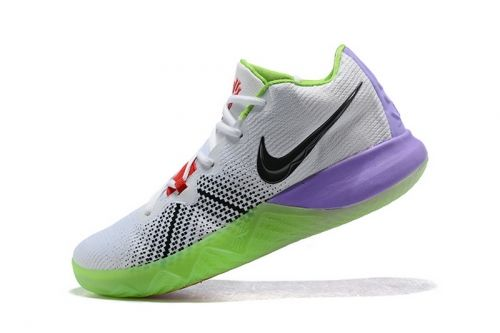 786f6c796fae1 Popular Mens Nike Kyrie Flytrap White Black Red Purple Green Shoes Free  Shipping For Sale -