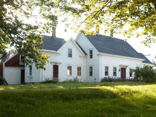 """1880s Cape-style farmhouse in Waldoboro, Maine. """"The Blog Cabin""""  :)"""