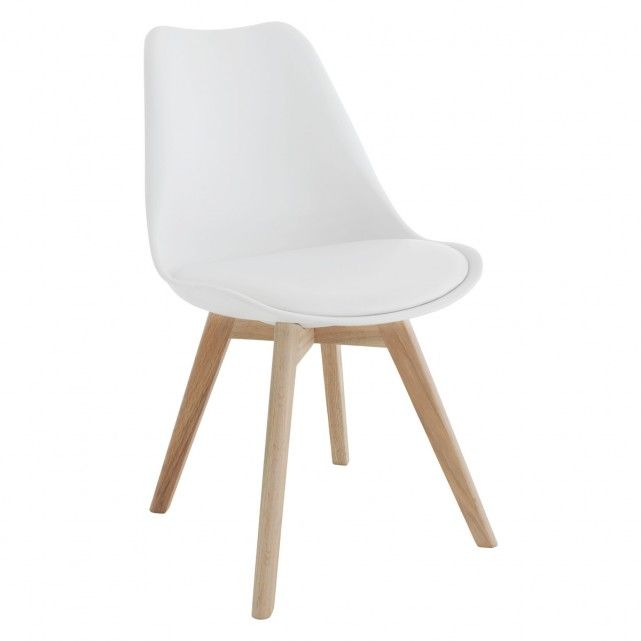 JERRY White dining chair | Buy now at Habitat UK
