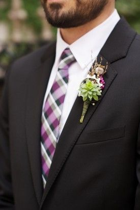 Cycling enthusiasts! check out this unique fall boutonniere made with a succulent, poppy pod, dried grasses and a bike cog! designed by local color flowers www.locoflo.com