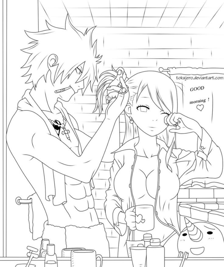 Pin by marjolaine grange on coloriage fairy tail