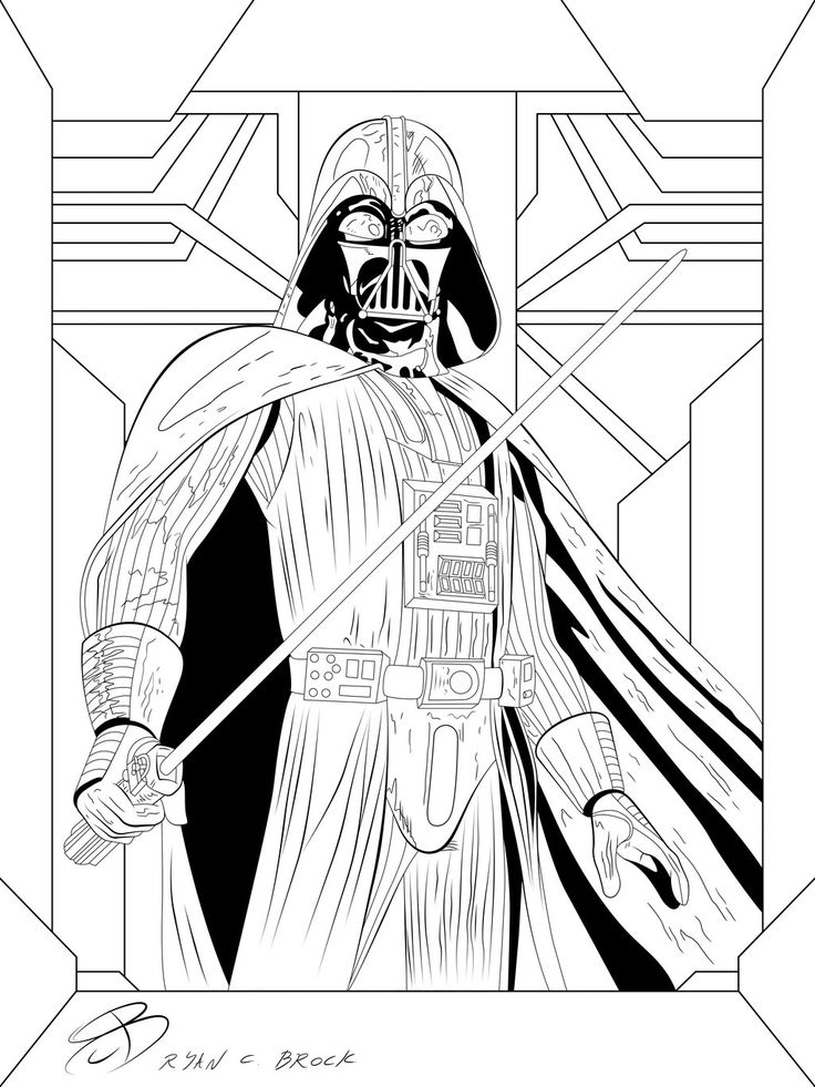 Coloring Pages Darth Vader by RCBrock on DeviantArt LineArt