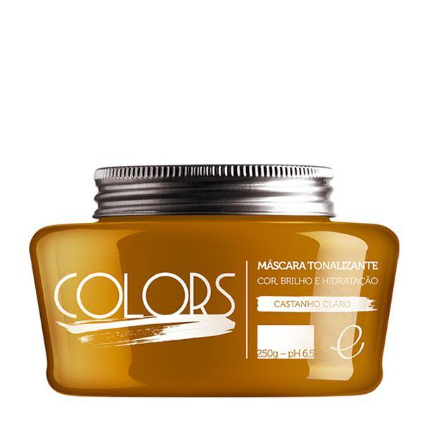 Portier Colors Máscara Tonalizante Castanho Claro - Portier Colors: - Doce Beleza