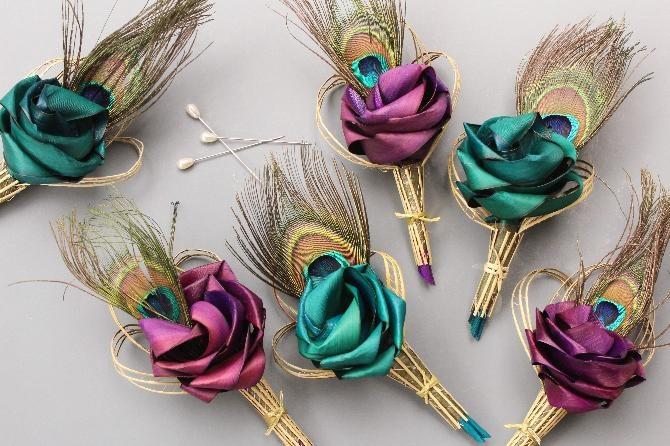 NZ flax buttonholes