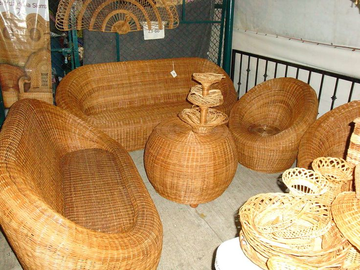 Muebles de rat n y mimbre artesan as de tacolapa tabasco for Muebles de mimbre
