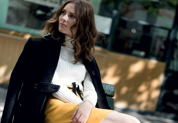 Look #1 avec la jupe oeillets polly Sinequanone