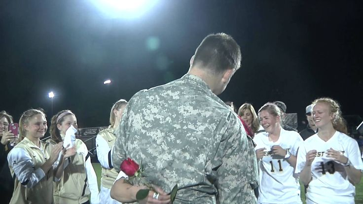 Surprise Military Proposal to West Point Womens Soccer Captain….this actually isn't that great but the principle of it got me!
