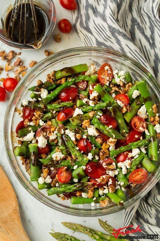 Tomato, Asparagus and Feta Salad with Balsamic Vinaigrette | Fresh news Magazine. Thats all you need
