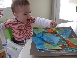 Tissue Paper Art for kids of all ages!